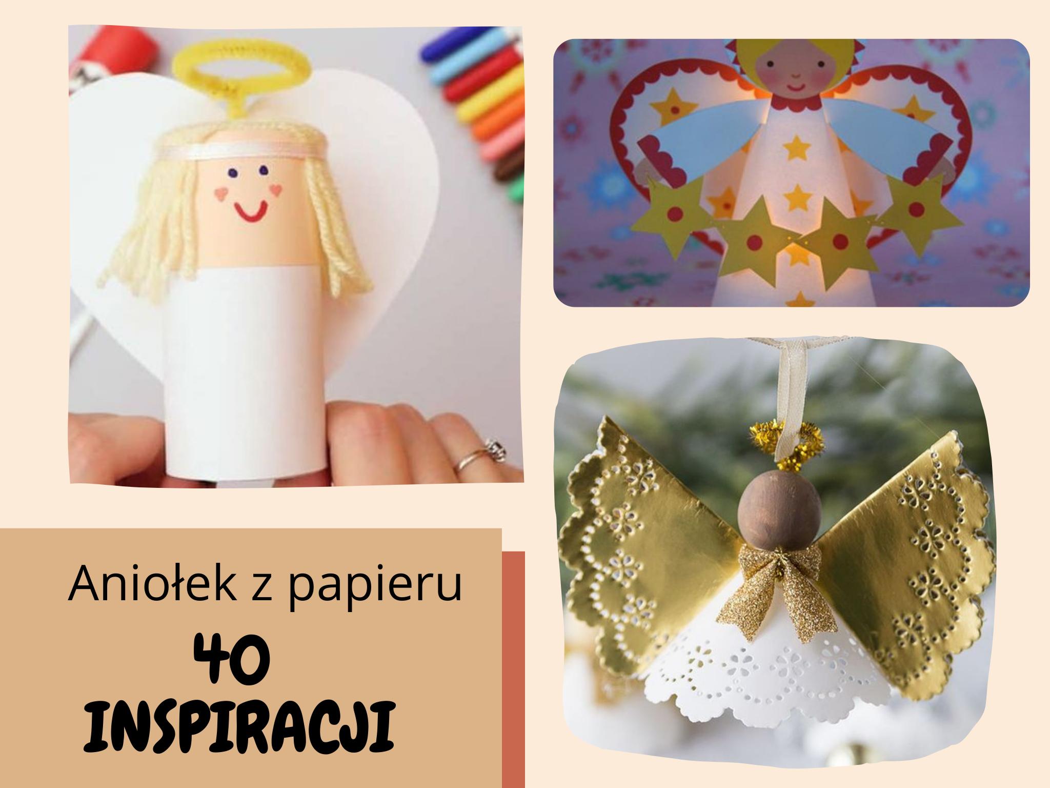 aniołek z papieru